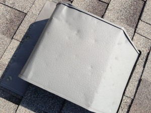 Damage to Vents are an easy indicator of hail damage