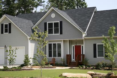 A house in a neighborhood